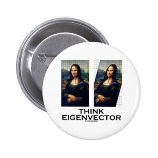 Piense el vector propio (Mona Lisa restaurada) Pins