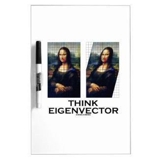 Piense el vector propio (Mona Lisa restaurada) Pizarras