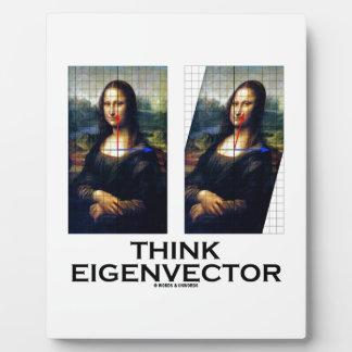 Piense el vector propio (Mona Lisa restaurada) Placa Para Mostrar