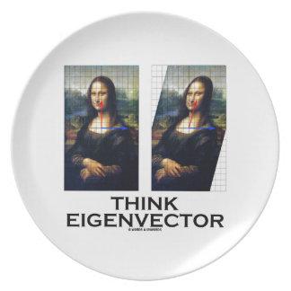 Piense el vector propio (Mona Lisa restaurada) Plato De Comida