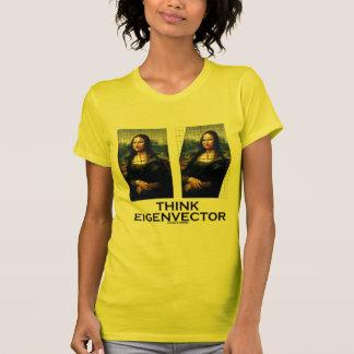 Piense el vector propio (Mona Lisa restaurada) Camiseta