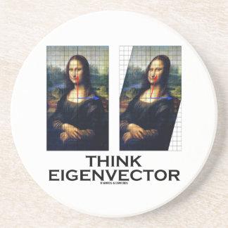 Piense el vector propio (Mona Lisa restaurada) Posavaso Para Bebida