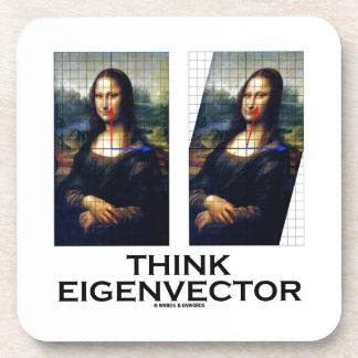 Piense el vector propio (Mona Lisa restaurada) Posavasos