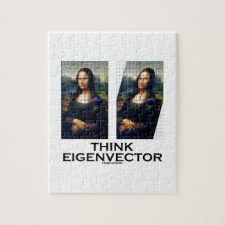 Piense el vector propio (Mona Lisa restaurada) Puzzle
