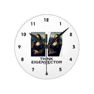 Piense el vector propio (Mona Lisa restaurada) Relojes De Pared