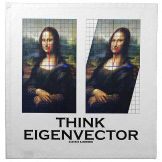 Piense el vector propio (Mona Lisa restaurada) Servilleta Imprimida