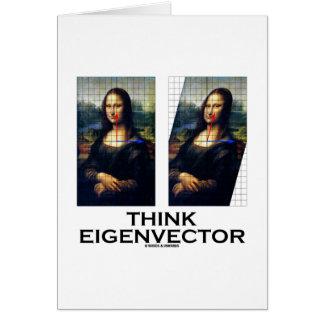 Piense el vector propio (Mona Lisa restaurada) Felicitaciones