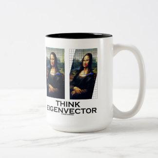 Piense el vector propio (Mona Lisa restaurada) Tazas