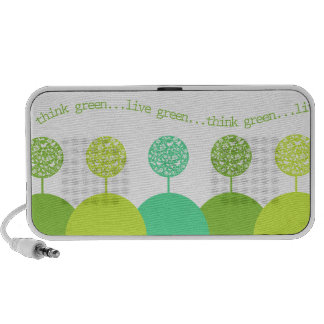 Piense el verde laptop altavoz