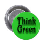 Piense el verde - botón pin
