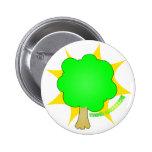 Piense el verde - botón pins