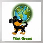 ¡Piense el verde! (Bubba) Poster