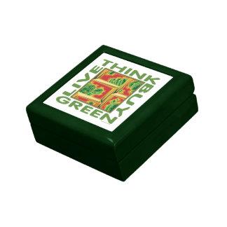 Piense el verde cactus caja de regalo