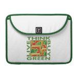 Piense el verde, cactus funda para macbooks