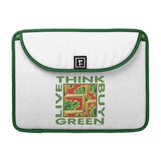 Piense el verde cactus funda para macbooks