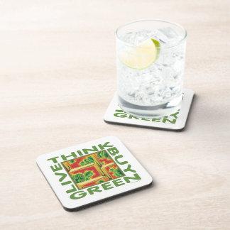 Piense el verde, cactus posavasos de bebidas
