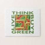 Piense el verde, cactus puzzles
