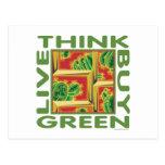 Piense el verde, cactus tarjeta postal