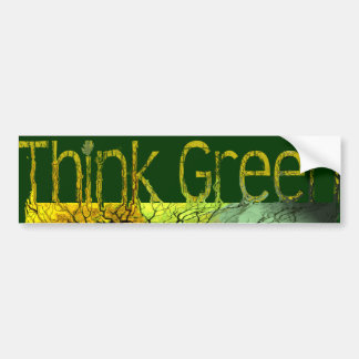 Piense el verde pegatina de parachoque