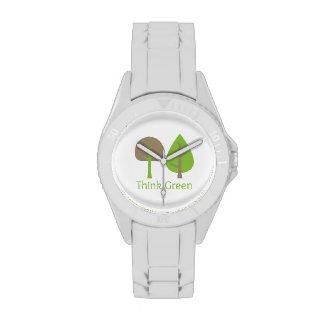 Piense el verde {el reloj} reloj