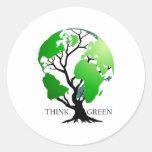 Piense el verde etiquetas