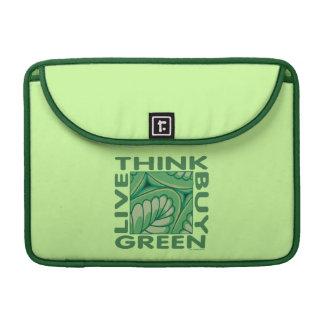 Piense el verde fundas para macbooks