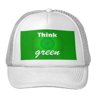 Piense el verde gorras