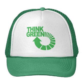 piense el verde gorra