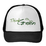 Piense el verde gorras de camionero