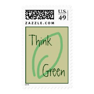 Piense el verde - hoja de Eco Sello