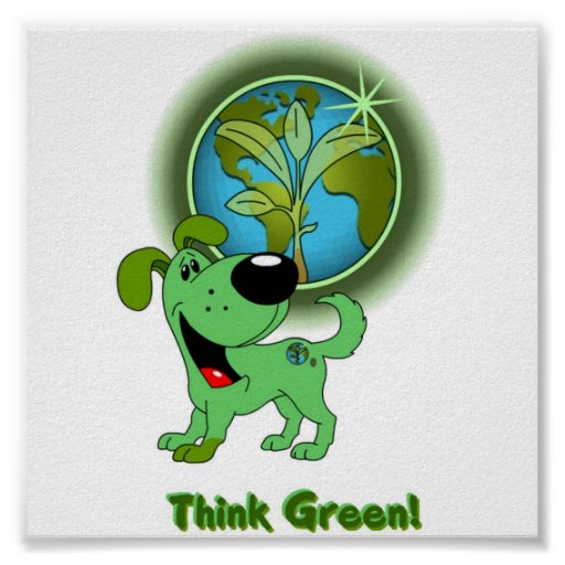 ¡Piense el verde! - Hoja Póster