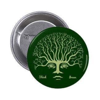 Piense el verde II Pin Redondo 5 Cm