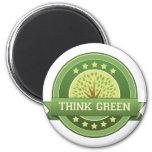 Piense el verde imán para frigorifico