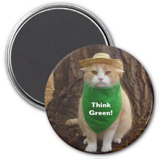 ¡Piense el verde! Imán Redondo 7 Cm
