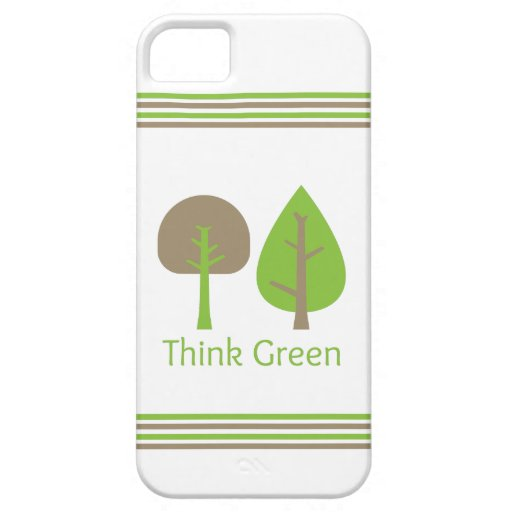 Piense el verde iPhone 5 funda