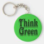 Piense el Verde-Llavero