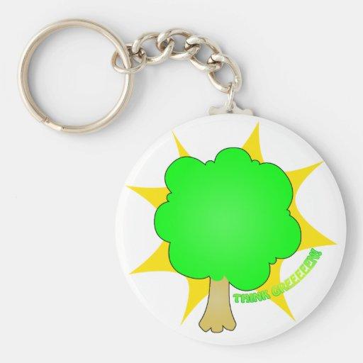 Piense el verde - llavero