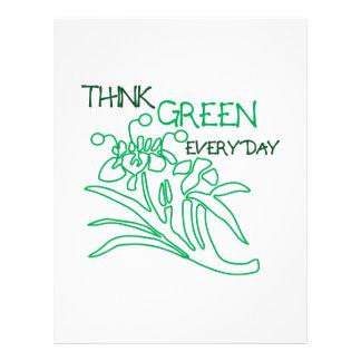 Piense el verde membrete