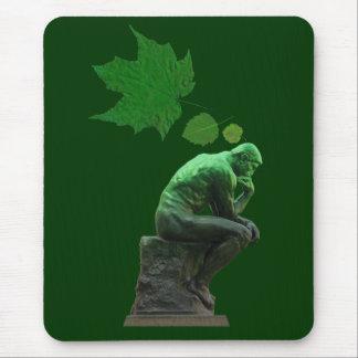 Piense el verde mouse pads