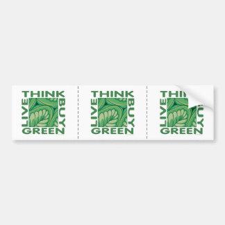 Piense el verde pegatina para auto