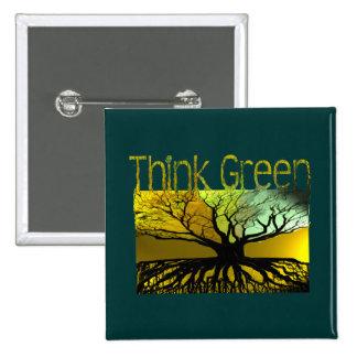 Piense el verde pin cuadrado
