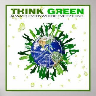 Piense el verde: Planeta pacífico Póster