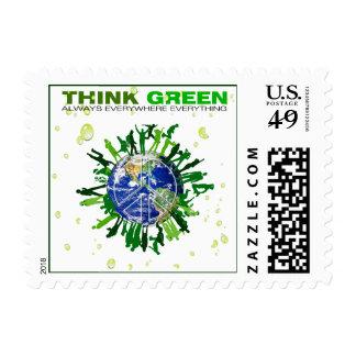 Piense el verde: Planeta pacífico Sellos