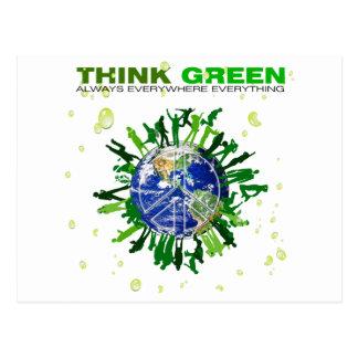 Piense el verde: Planeta pacífico Postal