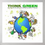 Piense el verde - plante un árbol impresiones