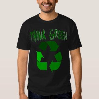 Piense el verde playeras