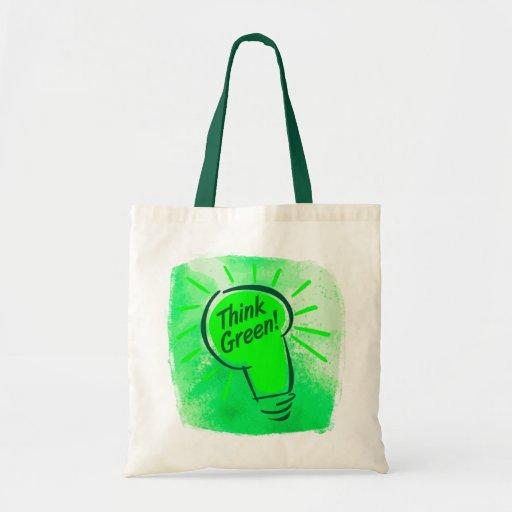 ¡Piense el verde! Presupueste el tote Bolsas