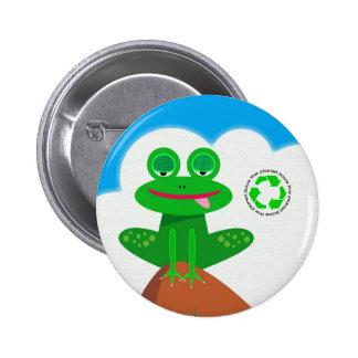 Piense el verde: Reciclaje del botón de la concien Pin