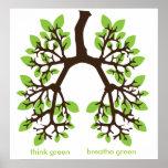 piense el verde, respire el verde posters