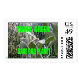 Piense el verde sellos
